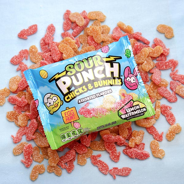 Sour Punch Chicks & Bunnies Pouch